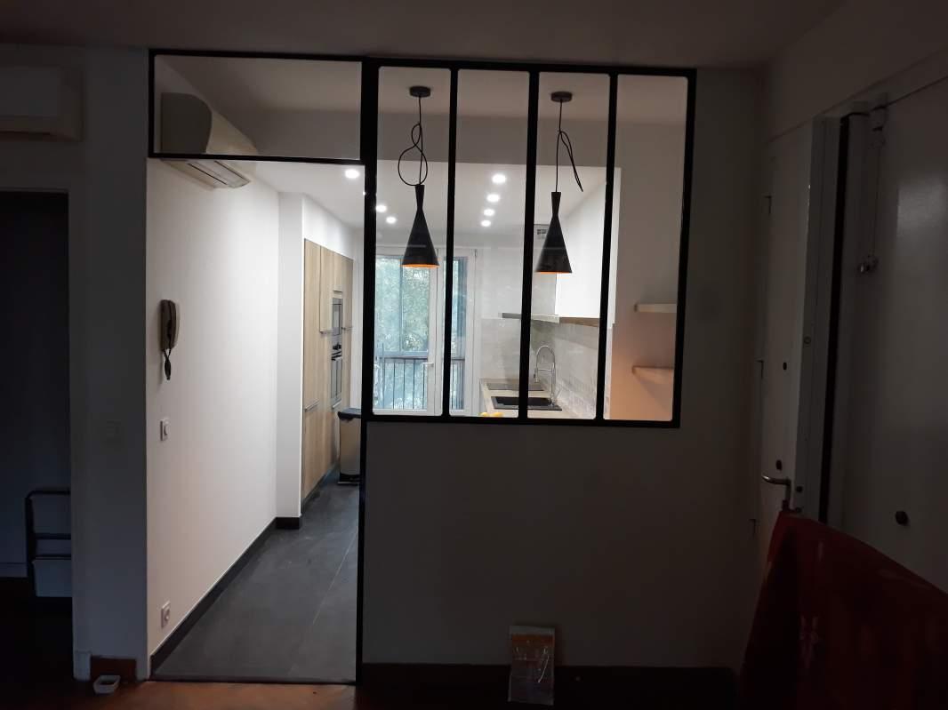 Cuisine Avec Verrière Sur Salon rénovation d'appartement avec cuisine verrière semi ouvert